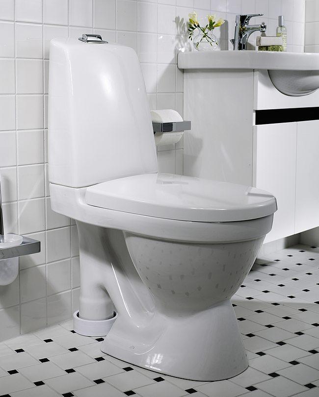 GUSTAVS BERG WC-stol Nautic 5591 – öppet s-lås, stor fot